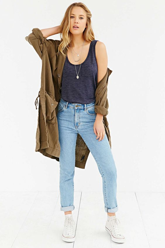 BDG Scoop-Neck Pocket Tank Top - Urban Outfitters