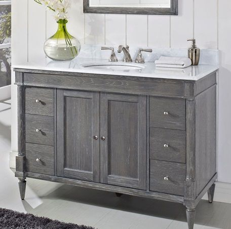 Kind Of Like This Weathered Gray Vanity Bath Remodel Pinterest Grey I Am And Grey Bathrooms