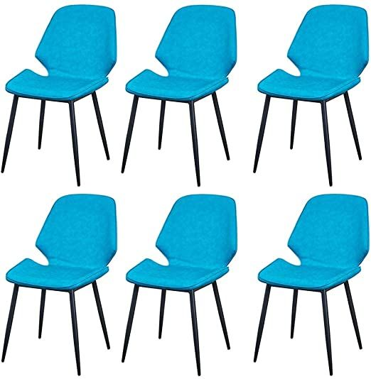 Lhhl Dining Chairs Set Of 6 Iron Kitchen Chairs With Sturdy Metal Legs Dining Room Set Living Room Set Color B Dining Chairs Living Room Sets Kitchen Chairs Kitchen chairs set of 6