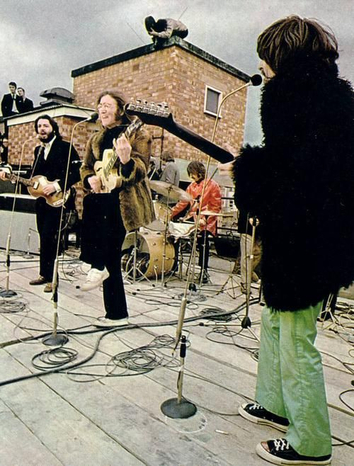 The Beatles rooftop concert took place in January of 1969 on top of the Apple building in London. This would be the band's final live performance together.