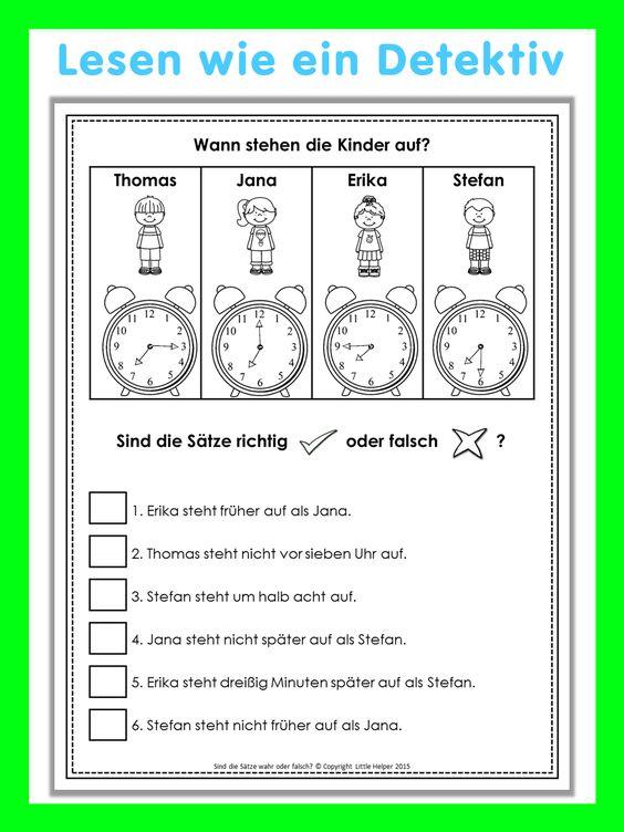 german reading challenge richtig oder falsch 24 leser tsel in color the sentence and reading. Black Bedroom Furniture Sets. Home Design Ideas