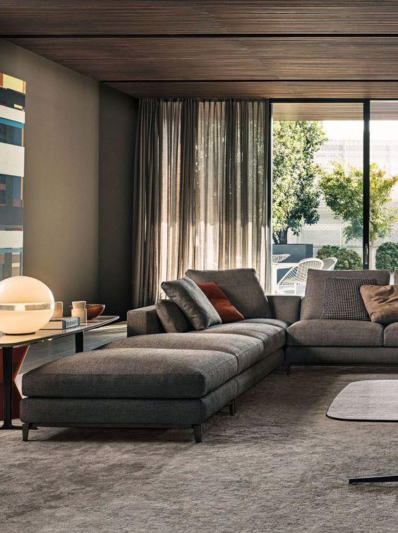 modern interior by Minotti #pin_it #repine @mundodascasas www.mundodascasas.com.br