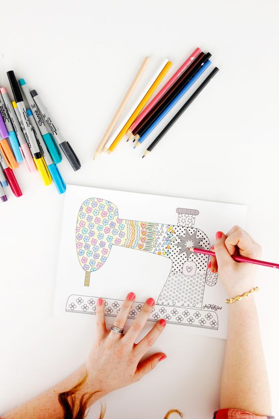 FREE Sewing Coloring Pages | Free Sewing, Coloring Pages ...