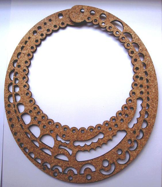 Une merveilleuse collection de bijoux en liège  Créations de la designer Alicia Ribis