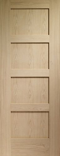 Details About 4 Panel Flat Mission Shaker Red Oak Stain Grade Solid Core Interior Wood Doors