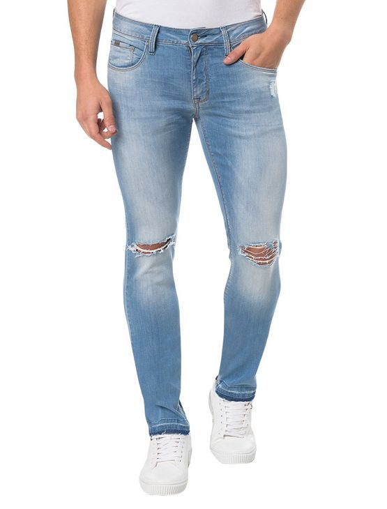 Calça Jeans Calvin Klein Jeans Five Pockets Azul