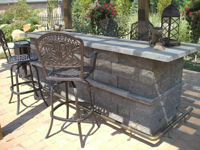 Outdoor bars outdoor and build your own on pinterest for Build your own patio bar