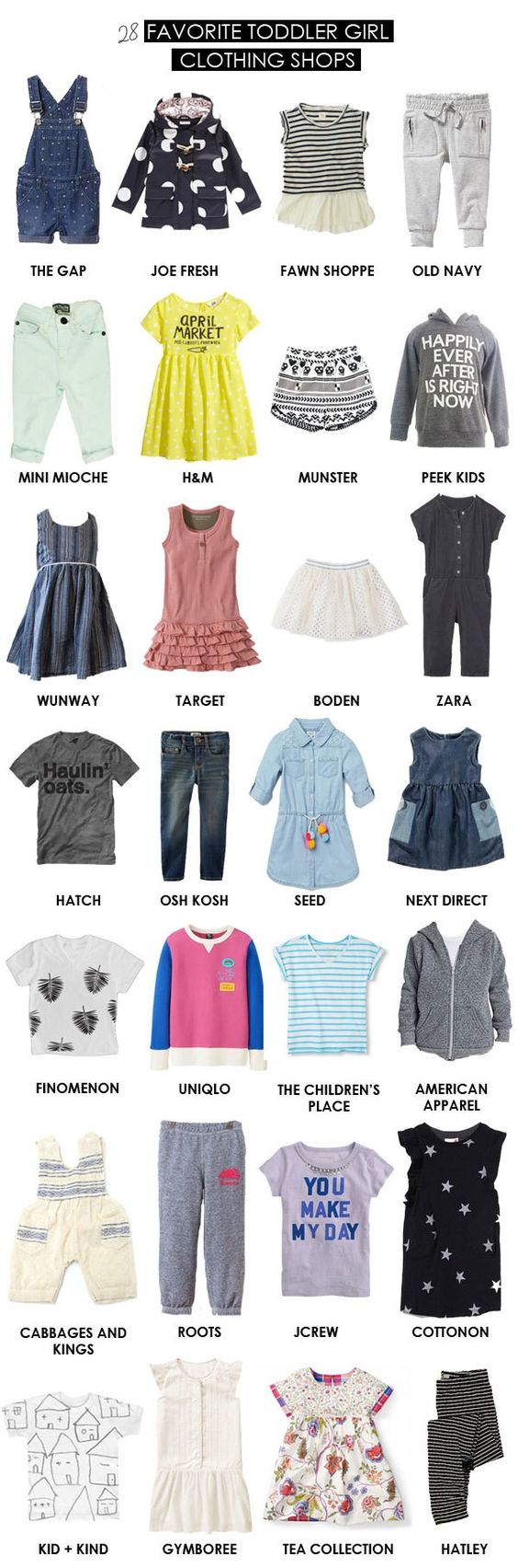 favorite toddler girl clothing stores
