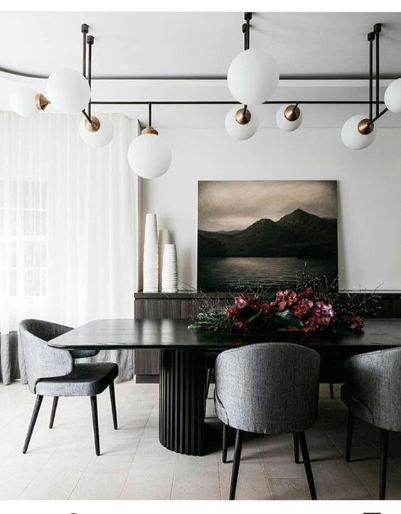 Contemporary Dining Room Ideas To Inspire You Dining Room Contemporary Dining Room Decor Dining Room Design Black dining room design ideas