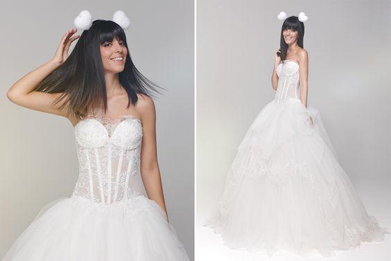 Laura Comolli indossa un'abito Atelier Aimee Montenapoleone per White Sposa - gennaio 2015