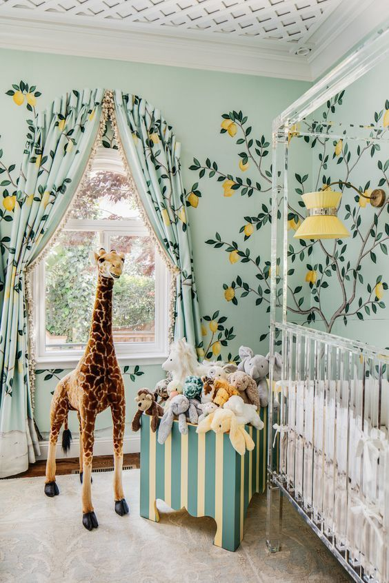 Create A Zoo Bedroom Theme In A Baby Nursery (18 Ideas) | Baby Girl Room, Nursery Design, Girl Room