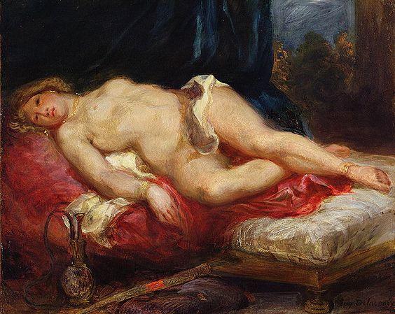 Eugene Delacroix Odalisque sketch: