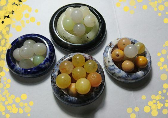 Mogok semi precious stones and beads.