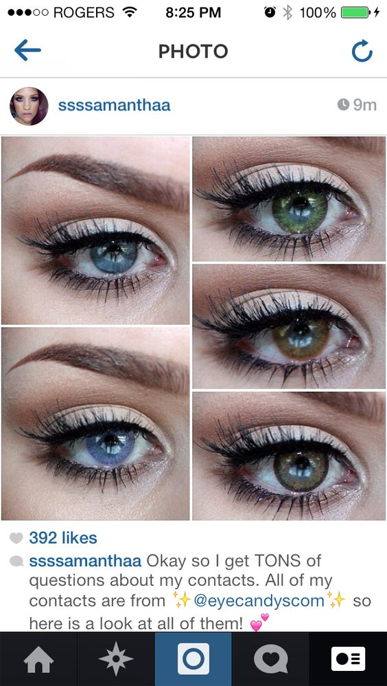 Colored contacts, Natural eyes and Shades of blue on Pinterest