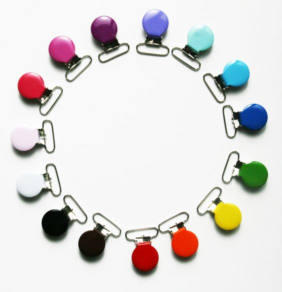 Pinzas redondas para hacer chupeteros de pathcwork
