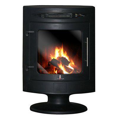 Lava Heat Italia PIZZO-SS-EL Pizzo Electric Fireplace Heater