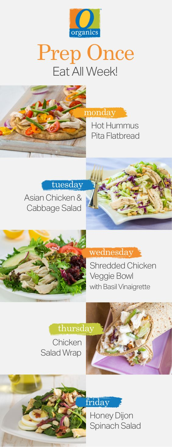 Meal prep just got easier! Prep your O Organics® chicken tonight and try these five healthy recipes throughout the rest of the week!