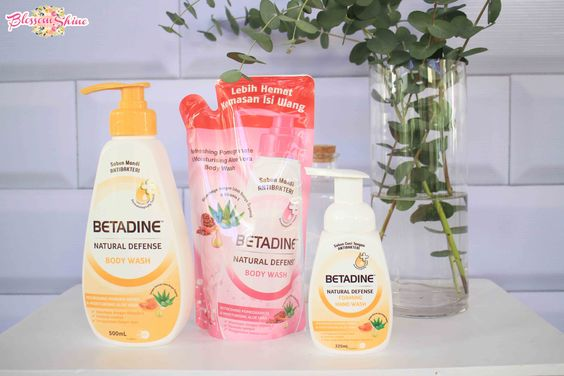Betadine Natural Defense Body Wash 500ml & Refill