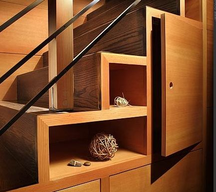 Stair shelves
