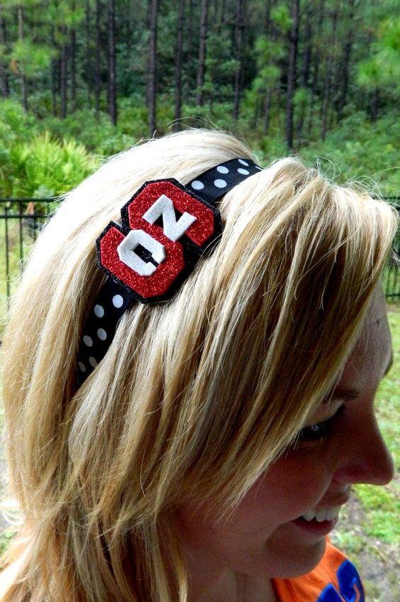 NC State Glitter headband by MissPrissHeadbands