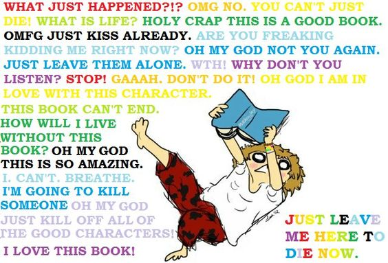 This is me..... every time I read a book.