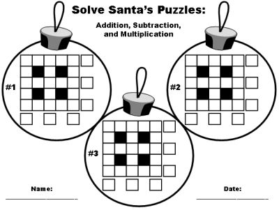 Pictures Free Printable Christmas Math Worksheets - pigmu