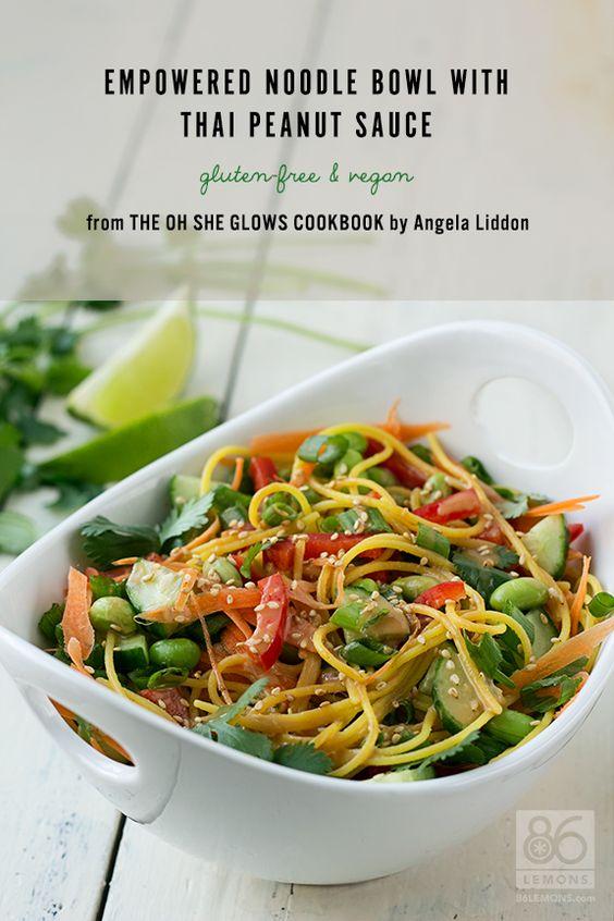 Noodle bowls, Thai peanut sauce and Peanut sauce on Pinterest