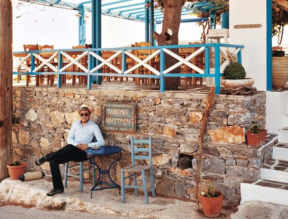 Eating out is easy on the budget in the Little Cyclades, and most bars and restaurants—like Taverna Maistrali, on Iraklia—encourage you to stay a while and soak in the view.