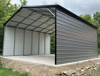 24x40 Three Car Garage 3 Car Side Entry Garage Metal Carports Carport Prices Utility Buildings