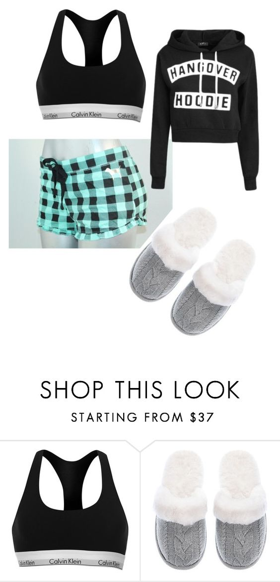 """Bed time"" by zarriahtarbert ❤ liked on Polyvore featuring Calvin Klein and Victoria's Secret"