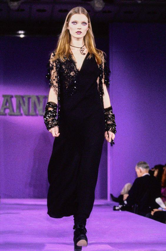 Anna Sui, RTW 1993-Kate Moss.