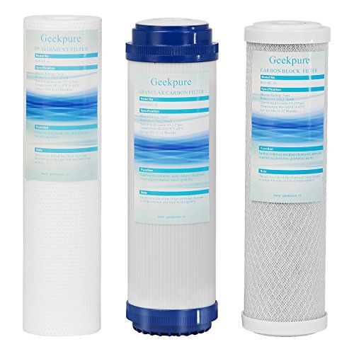 Geekpure Universal Compatible Reverse Osmosis Filter Replacement 3 Pcs Filter 1 X Sediment Reverse Osmosis Filter Reverse Osmosis Reverse Osmosis Water Filter