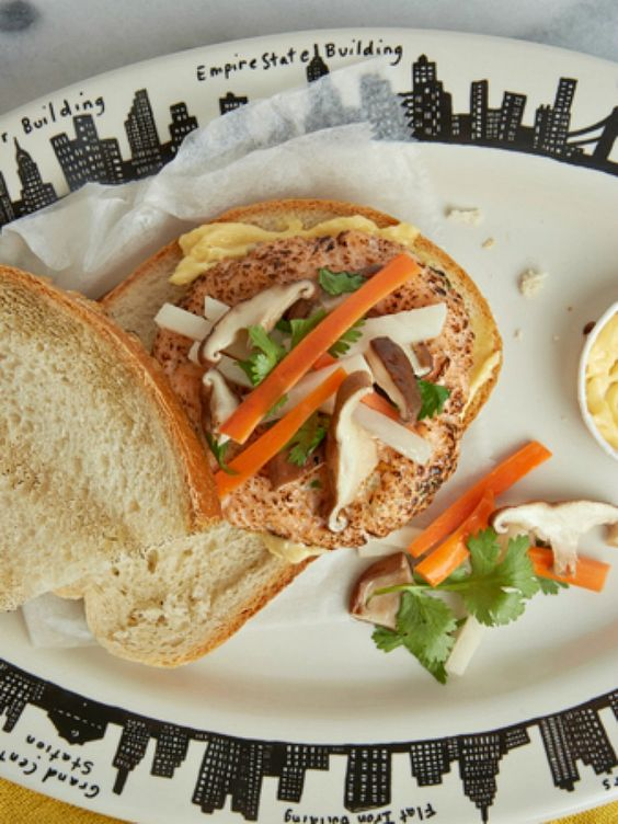 Bahn Mi Salmon Burger Recipe - JoyOfKosher.com