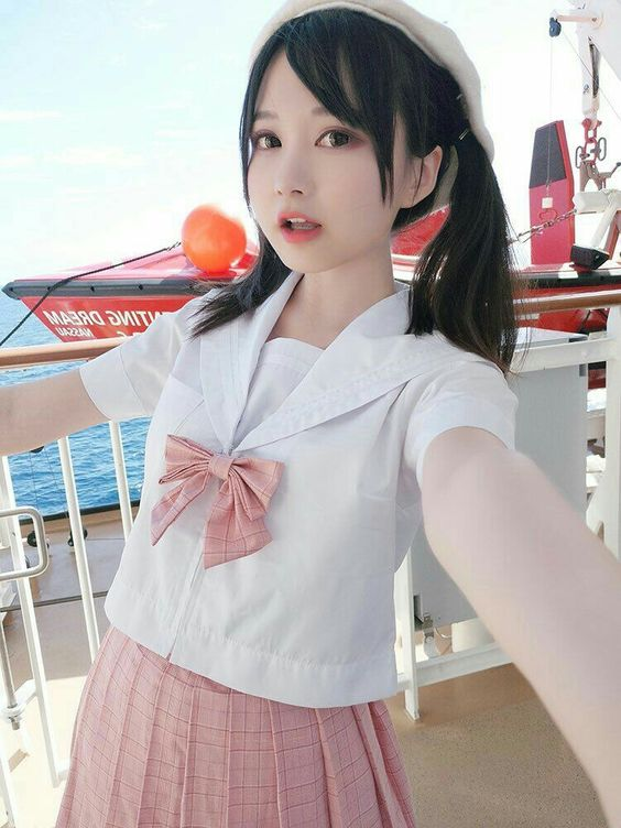 pigtails in school uniform