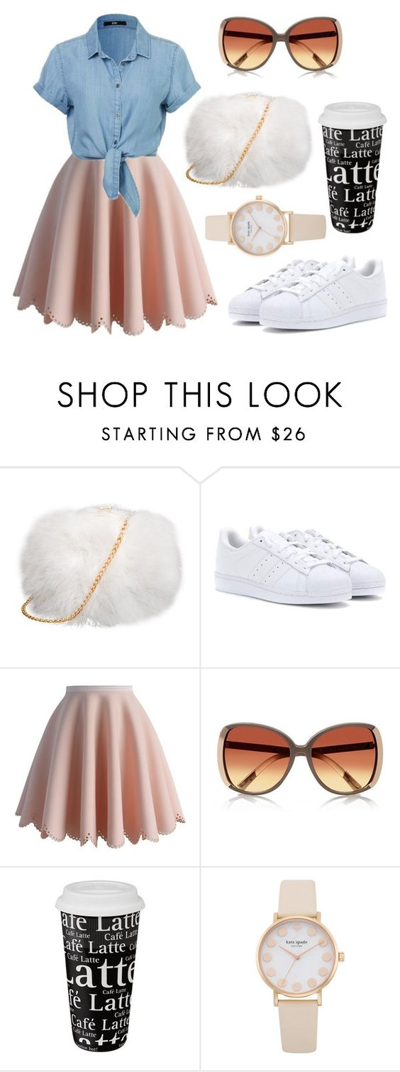 """""""Fashion cute March 2016"""" by diamondanna ❤ liked on Polyvore featuring adidas, Chicwish, River Island and Könitz"""