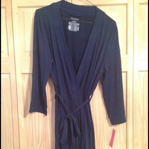 Xhialration Bathrobe - Navy blue Brand new bathrobe. Still has tags. Super soft! Xhilaration Intimates & Sleepwear Robes