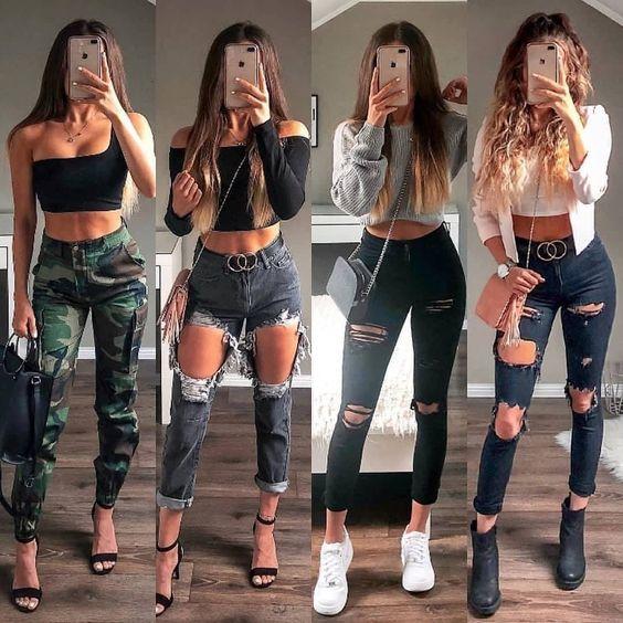 Sientete Comoda Con Estos Outfits Casuales Para Ir A Trabajar Salir De Marcha Para Ir De Compras Moda De Ropa Ropa Tumblr Mujer Ropa Juvenil De Moda