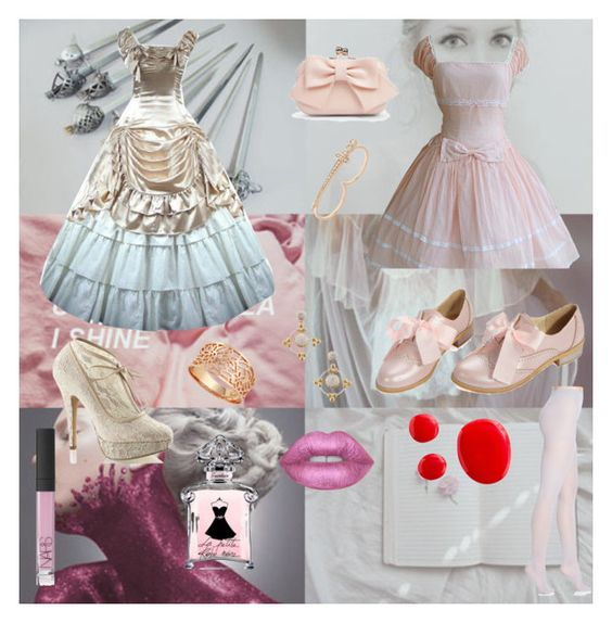 """""""Black Butler - Elizabeth Milford"""" by animedowntherunway ❤ liked on Polyvore featuring Fabulicious, Hanes, Boohoo, Bee Goddess, Phillips House, Lime Crime and NARS Cosmetics"""
