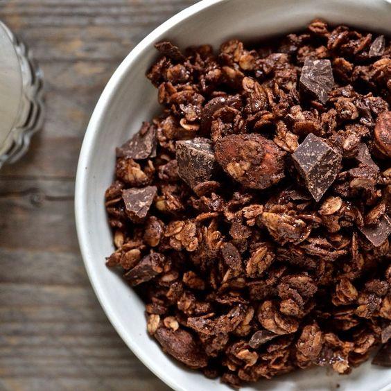 Les bonheurs d'Anne & Alex: Granola double chocolat et amandes (v)