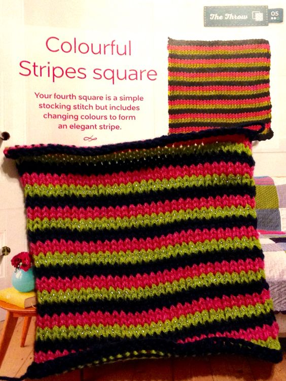 Issue 4 - Colourful stripes square