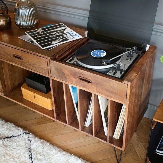 Meuble Vinyle Quel Modele Choisir Pour Un Interieur Au Look Vintage En 2020 Meuble Vinyle Buffet Meuble Armoire En Bois