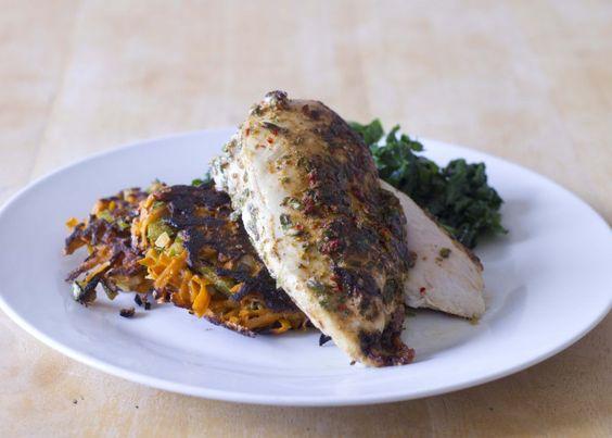 Recipe of the week: Piri piri chicken and sweet potato fritters / The Body Coach Blog / The Body Coach