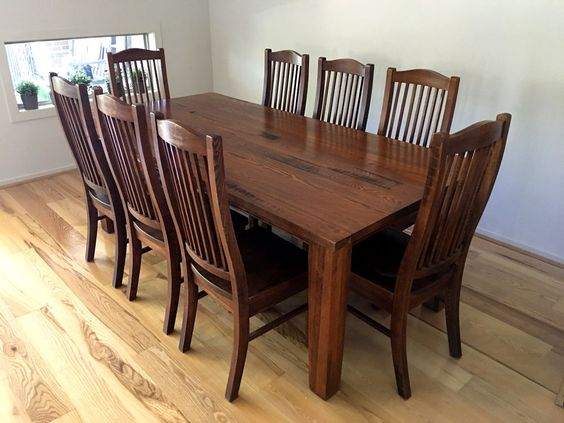 Details About Wood Dining Table With 8 Chairs Stunning Dining Room Table And Chairs Ebay Decorating Design