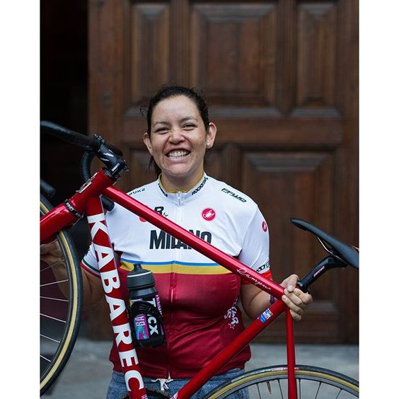 """Francisca Campos """"The Olympian"""". She is the one that will be racing for @kabarecbicycles at the @redhookcrit #rhcbcn3 #barcelona on September 5th 2015.  This Chilean women at the age of 30 has an impressive racing career here are some things she has done so far: - 9 podiums in Panamerican Championships in Mountain Bike. - 10 times national champion in Mountain Bike and 4 times in Road (Chile). - 3rd place in a Mountain Bike World Cup. - 3rd place in Tour de France du VTT - Raced for 3…"""