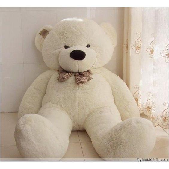 "Joyfay® 63"" 160 cm White Giant Teddy Bear Big Huge Stuffed Toy Birthday Gift"