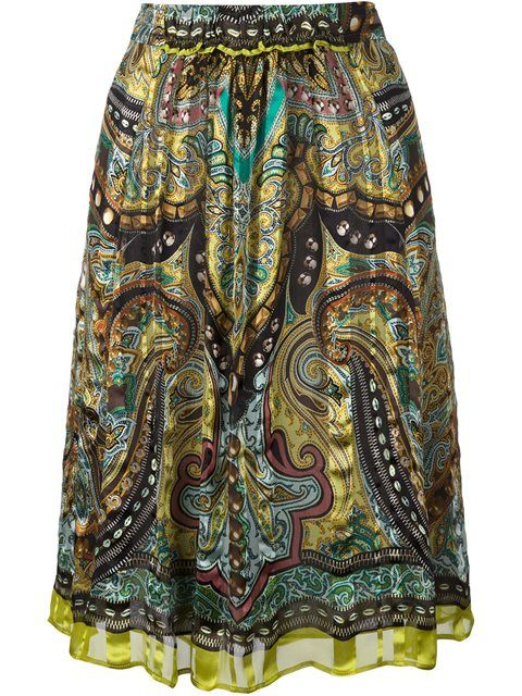 ETRO paisley print skirt. #etro #cloth #skirt