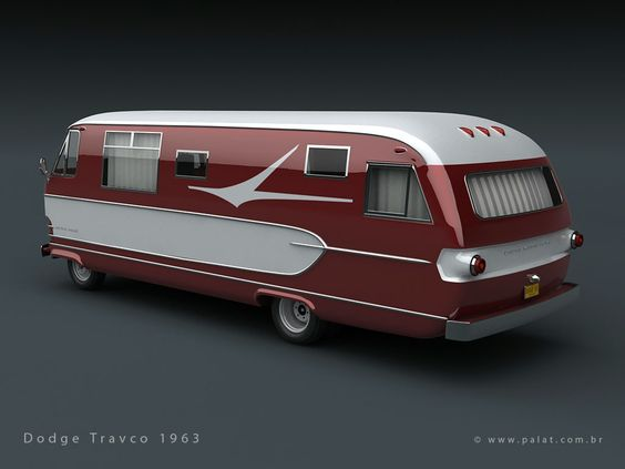Rear Three Quarter View Of The 1962 Dodge Travco Motorhome
