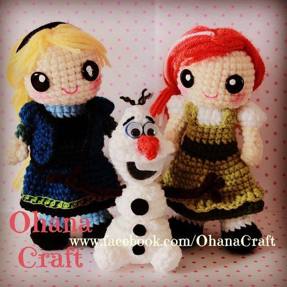 Crochet Frozen Doll : Crochet Frozen dolls and patterns ----Young Anna and Elsa ...