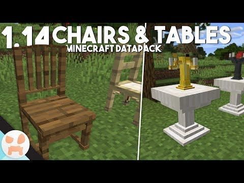 Minecraft Table And Chairs Minecraft Table In 2020 Minecraft Chair Craft Table