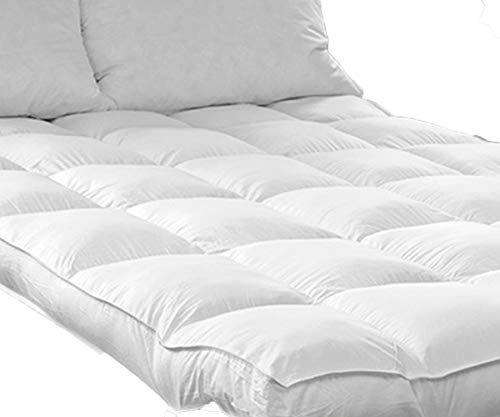 Queen Rose Mattress Topper Plush 2 Inch Pillow Top Mattress Pad Hotel Quality Hypoallergenic Down Alternative